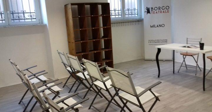 Aula Borgo teatrale per corsi recitazione milano