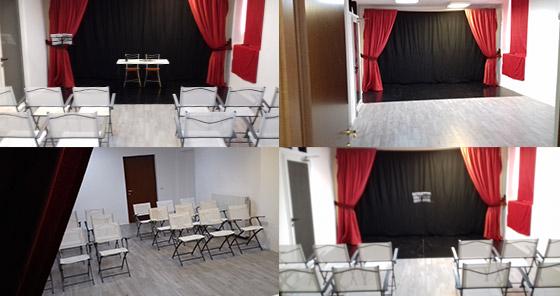 Sala per lezioni di teatro e recitazione